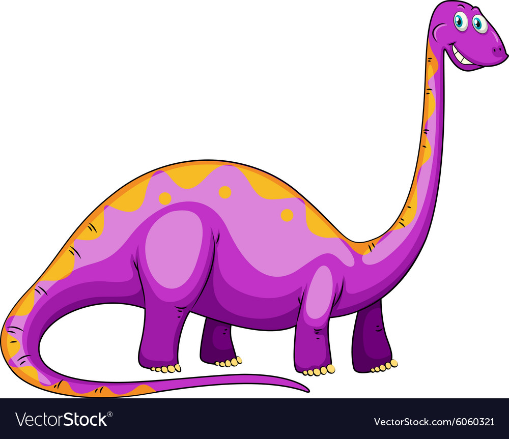 Dinosaur with long neck.