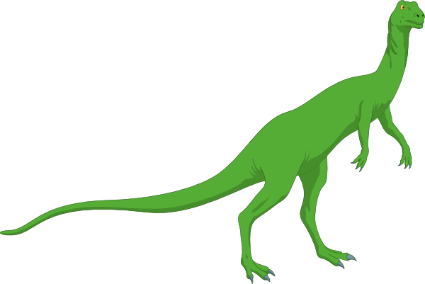 Green Long Necked Standing Dinosaur Clip Art at Clker.com.