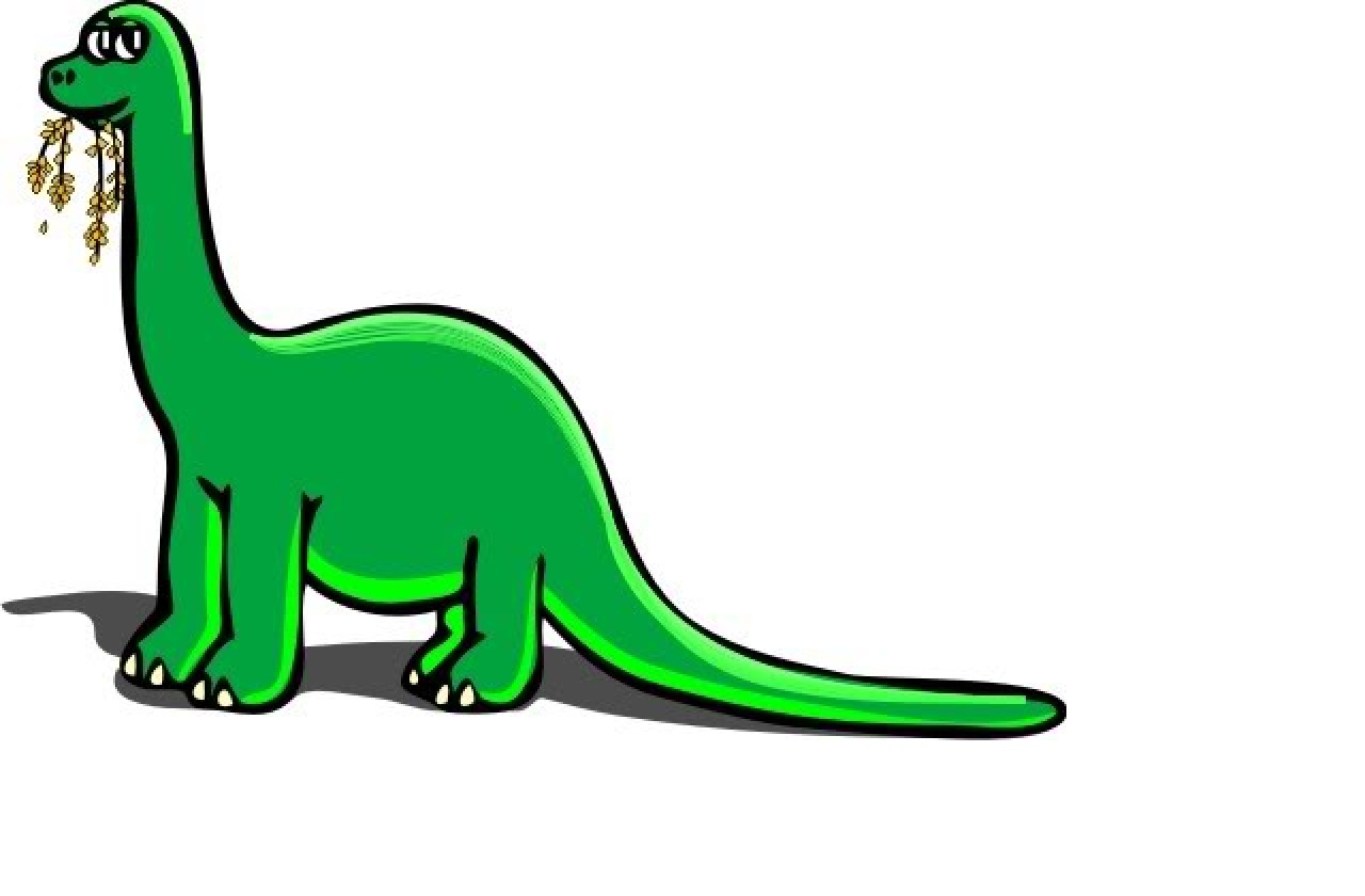 Cartoon Long Neck Dinosaur.