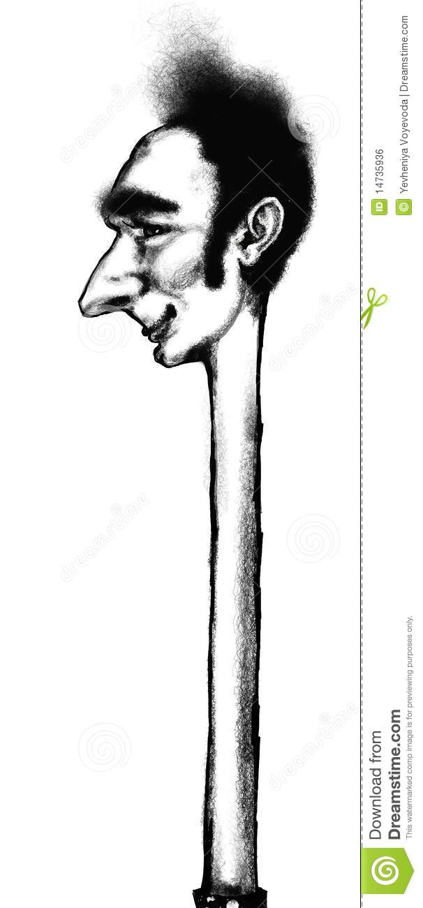 Long neck clipart.