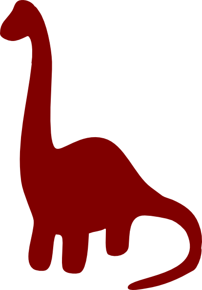 Long Necked Dinosaur Silhouette Clip Art at Clker.com.