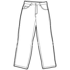 Girl Pants Clipart.