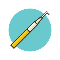 Medical Healthcare Dental Periodontal Probe Free Vector Graphics.