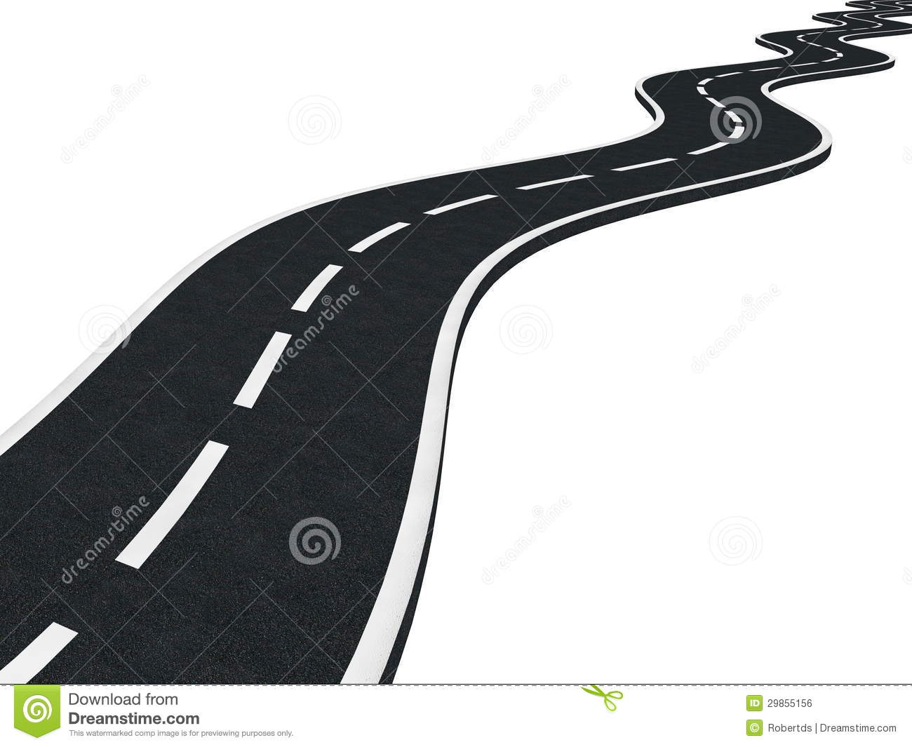Long Road Ahead Stock Illustrations.