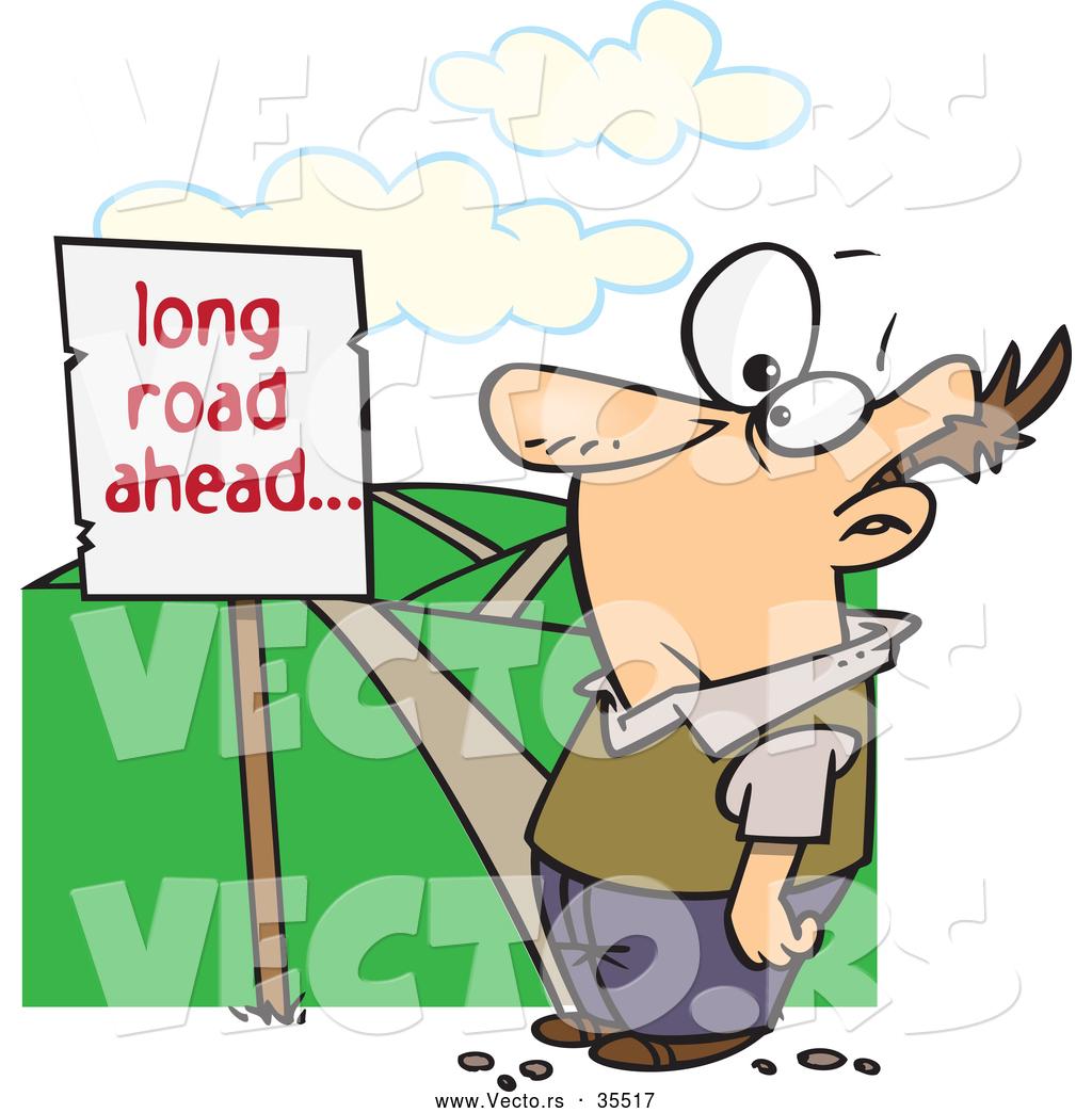 Long Road Ahead Clip Art.