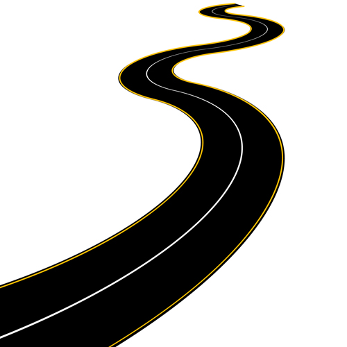Long curvy road clipart.