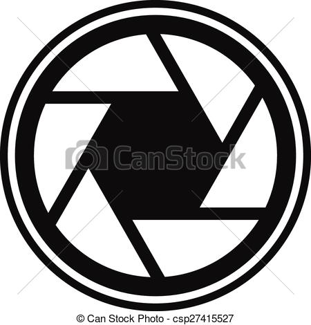 Vector Illustration of Shutter icon, shutter symbol for.