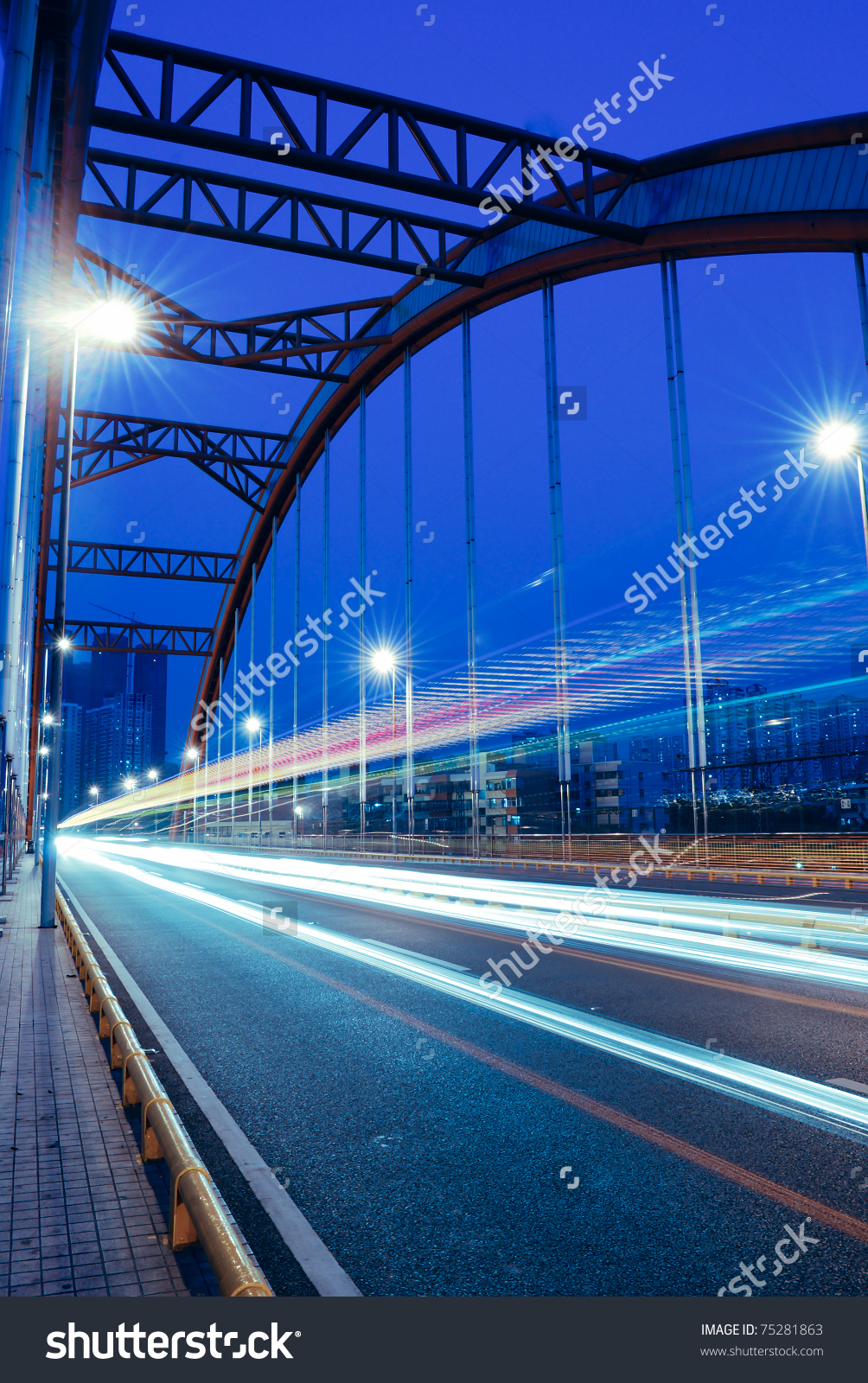 Slow Shutter Speed Shooting Cars Driving Stock Photo 75281863.