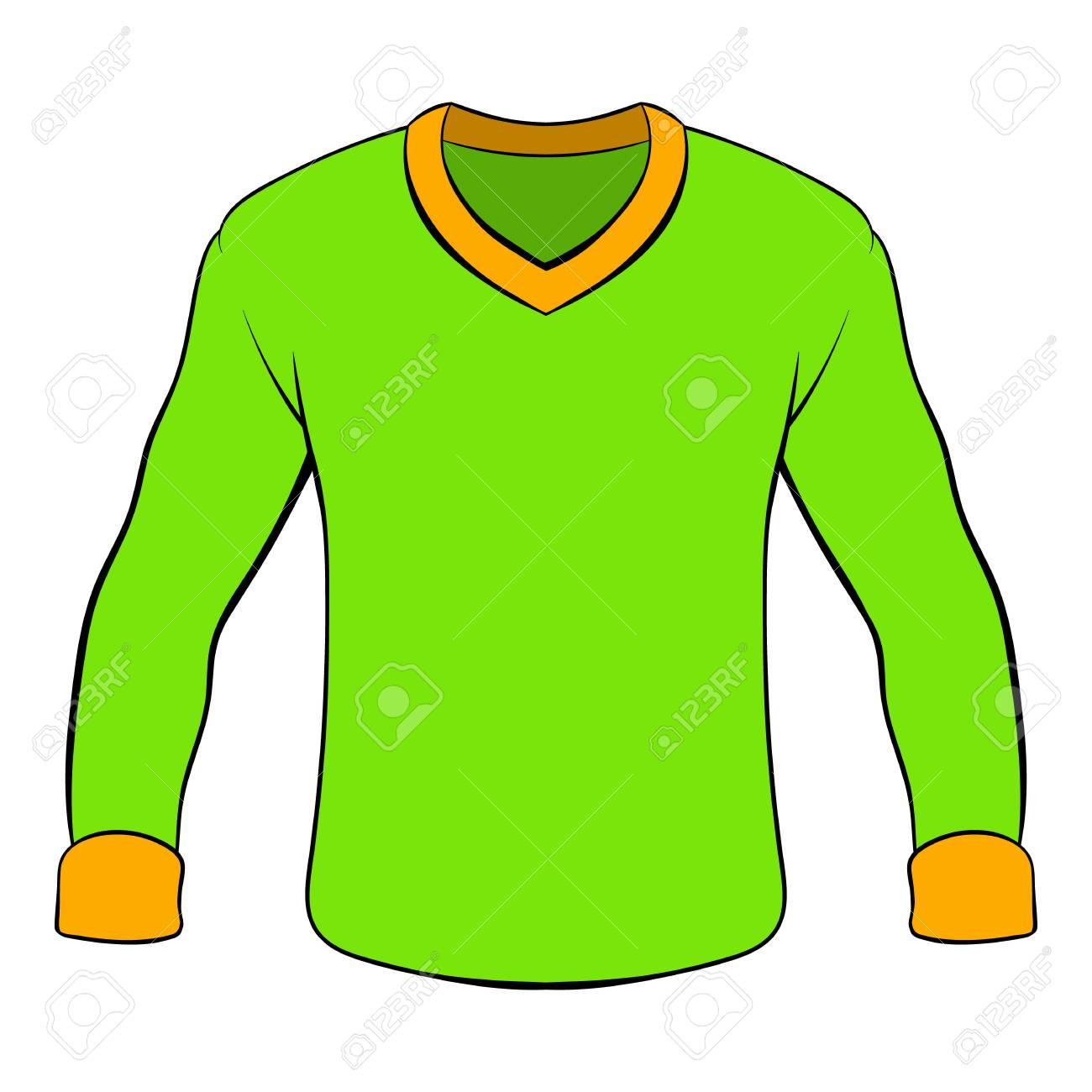 Mens shirt with long sleeves icon cartoon.
