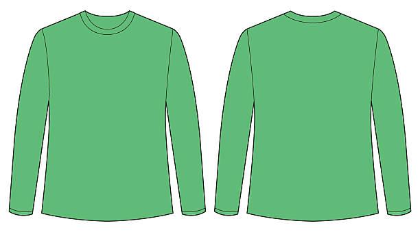 Long Sleeve T Shirt Template Clip Art Illustrations, Royalty.