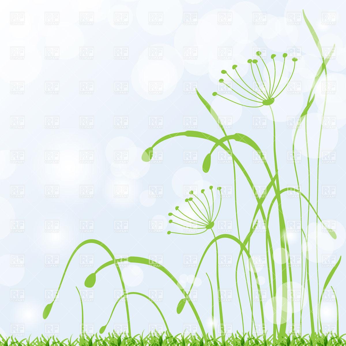 Grass Stems Clipart.