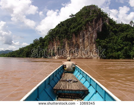 Laos Mekong Stock Photos, Royalty.