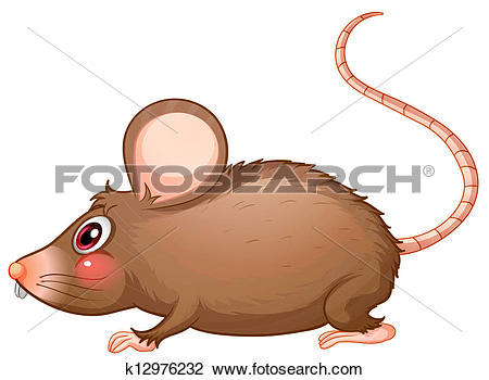 Clipart of A rat with a long tail k12976232.