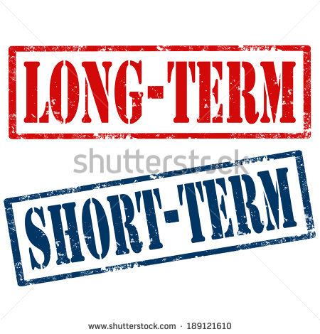 Short Term Long Term Stock Photos, Royalty.
