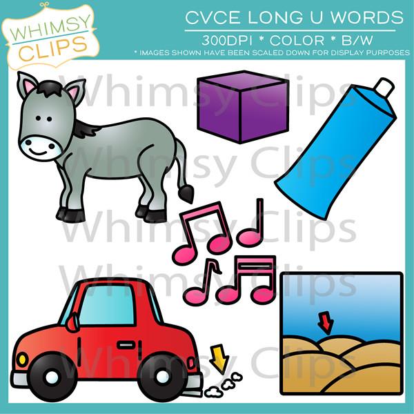 CVCe Long U Clip Art , Images & Illustrations.