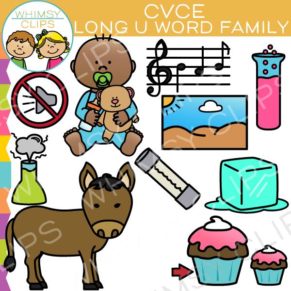 CVCe Long Vowel Word Family Clip Art , Images & Illustrations.
