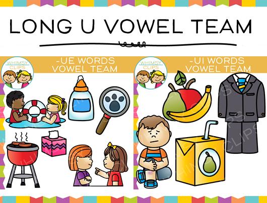 Vowel Team Long U Clip art Bundle , Images & Illustrations.
