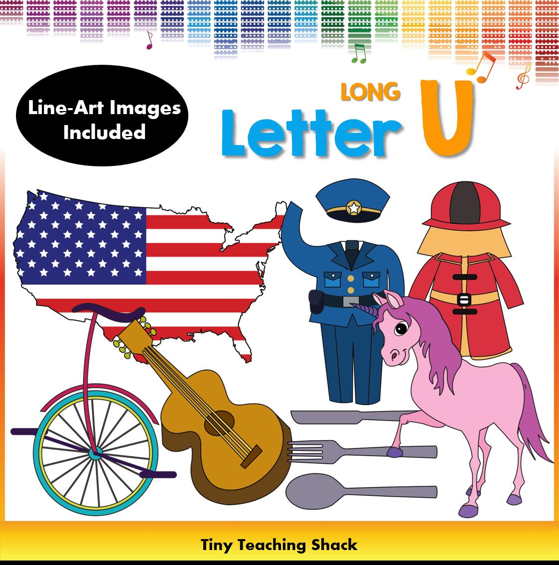 Letter U Clip Art (Long U).