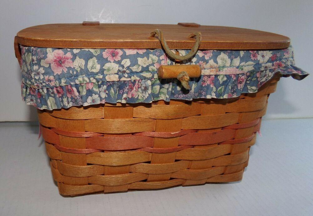 Mother\'s Day Purse Longaberger Basket Blue Bouquet Liner.
