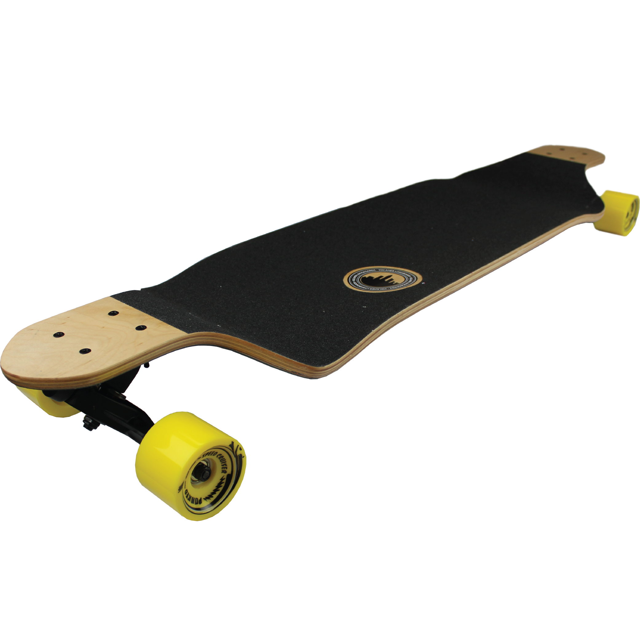 YOCAHER Professional Speed Drop Down Stained Complete Longboard.