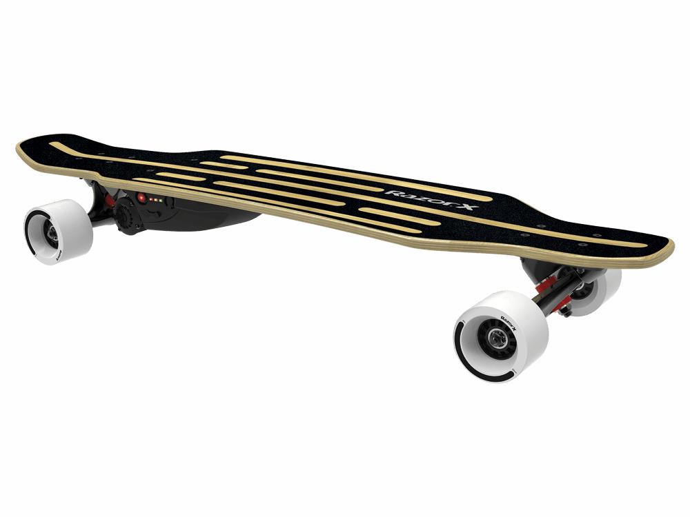 RazorX Longboard Electric skateboard.
