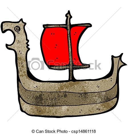 Vector Clip Art of cartoon viking ship csp14861118.
