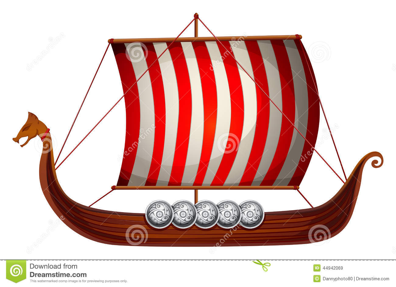 Viking Ship Stock Illustrations.