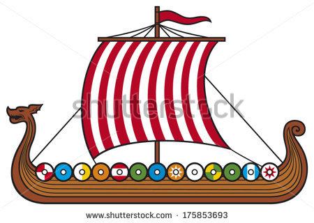 Viking Ship Stock Images, Royalty.
