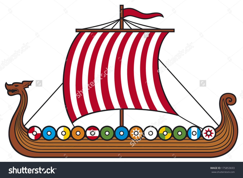 Viking Long Ship Stock Vector 175853693.