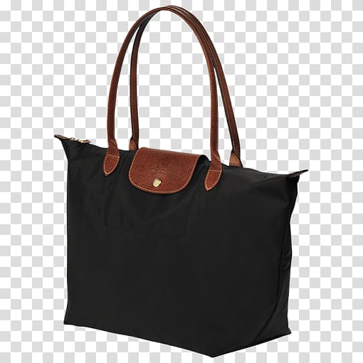 Black and brown tote bag, Large Tote Bag Longchamp.