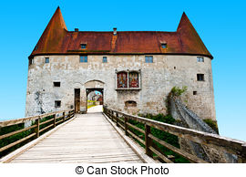 Stock Images of Castle Burghausen and Old City of B.