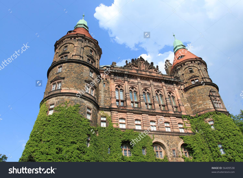 Ksiaz Castle Third Largest Castle Poland Stock Photo 56409538.