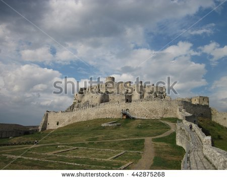 Castle Exterior Stock Images, Royalty.