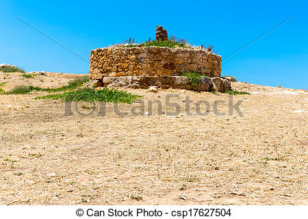 Stock Photography of Ruins of old town in Rethymno, Crete, Greece.