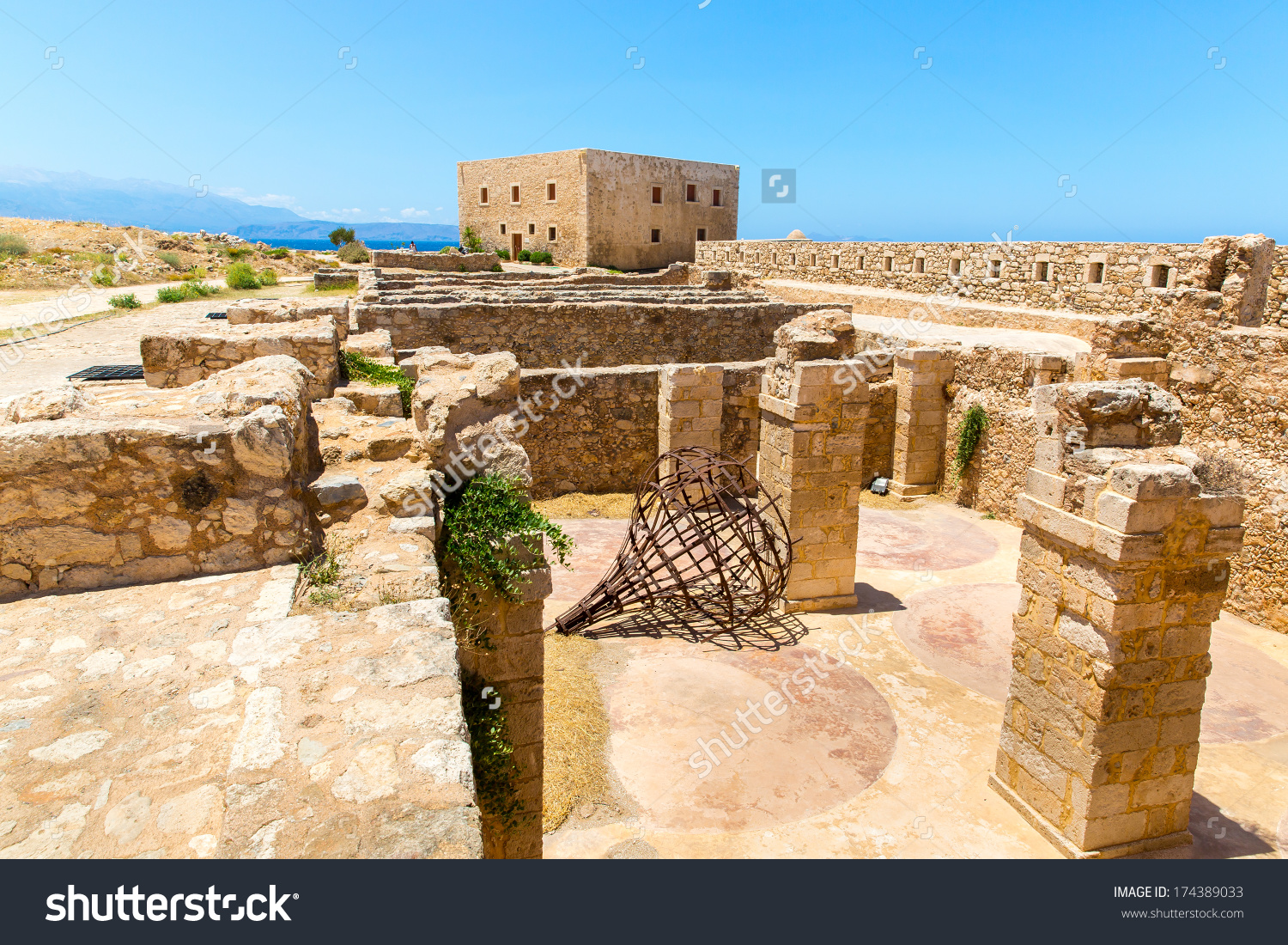 Ruins Of Old Town In Rethymno, Crete, Greece. It Is The Largest.