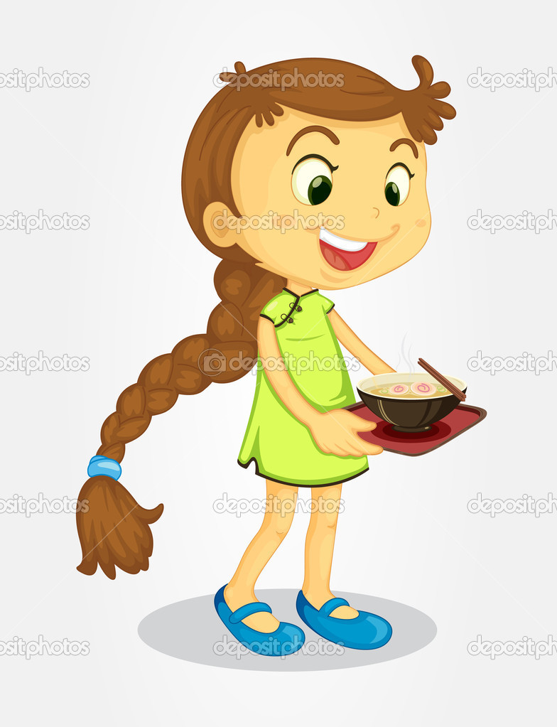 Clipart Girl With Long Hair.