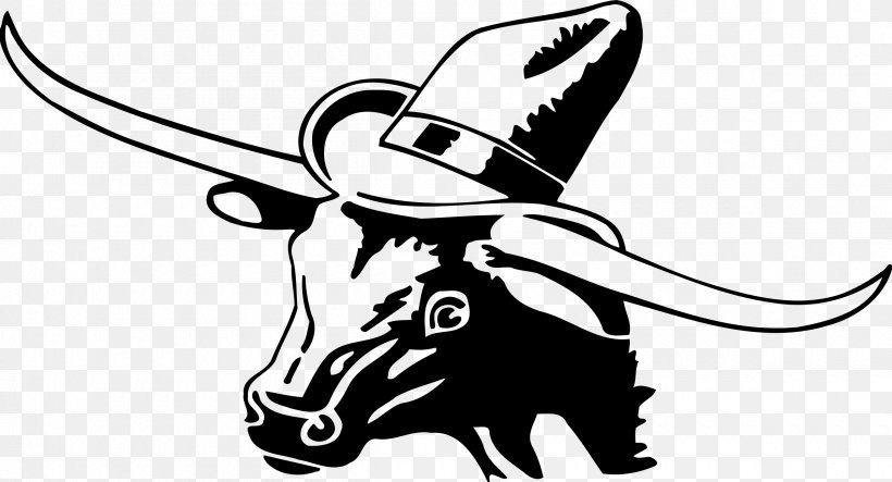 Texas Longhorn Cowboy Drawing Clip Art, PNG, 2400x1298px.