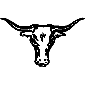 Longhorn cattle clipart.