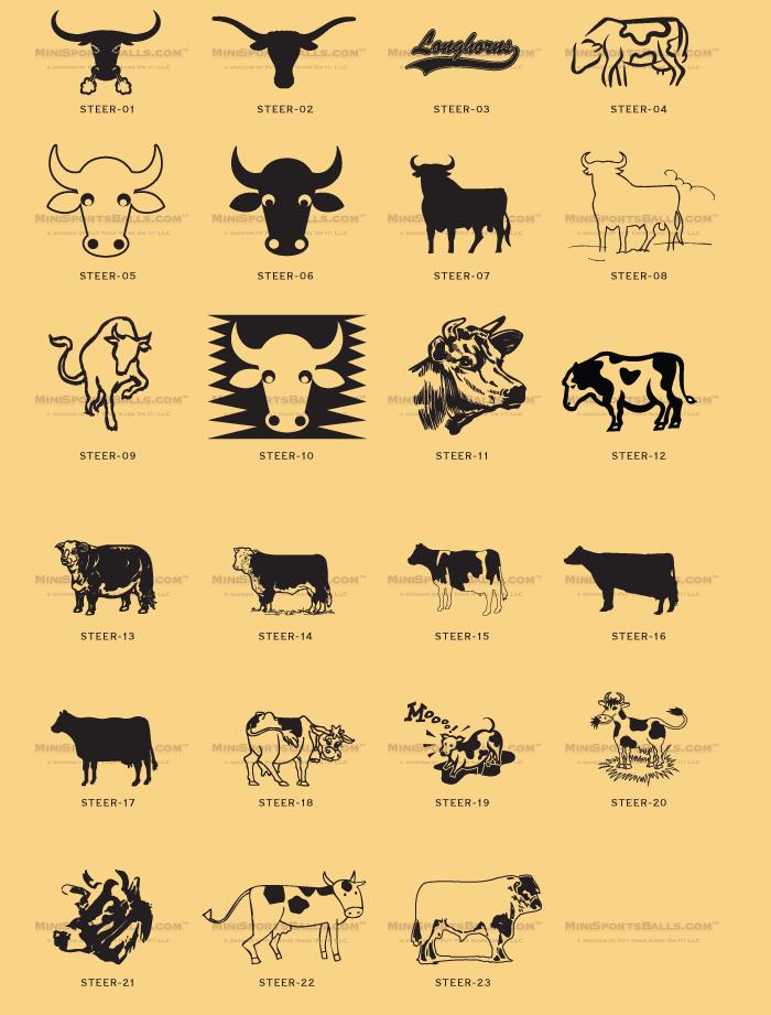 Longhorn, Steer & Cow Clip.