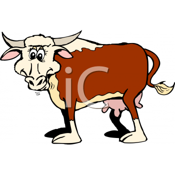 Cartoon Clipart Picture Of A Longhorn Cow.