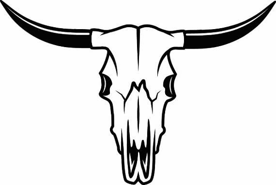 Longhorn clipart skull, Longhorn skull Transparent FREE for.