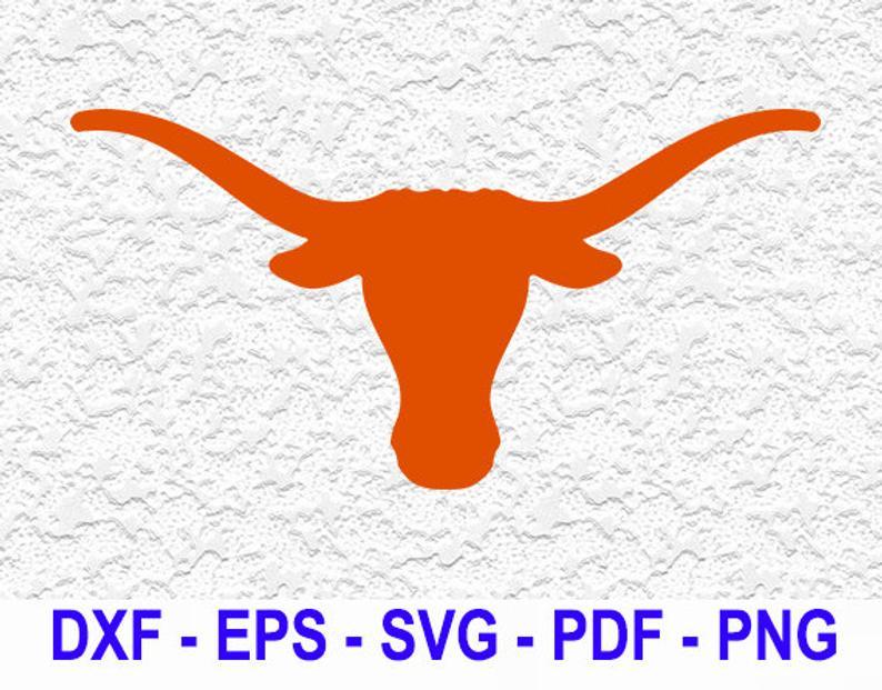 Texas Longhorns logo Digital File, SVG cutting file, pdf, png, dxf, eps.