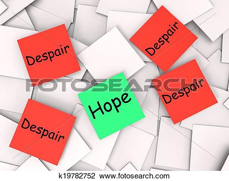 Clip Art of Hope Despair Post.