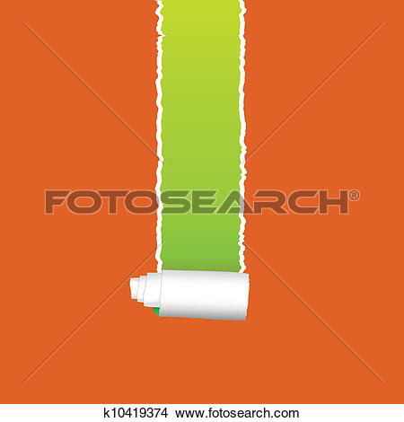 Clipart of longitudinal splitting of the paper vector k10419374.