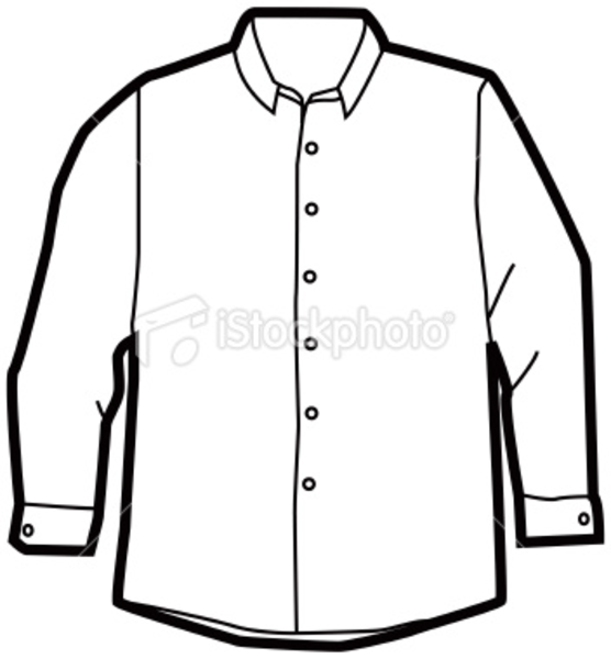 White long sleeve dress clipart.