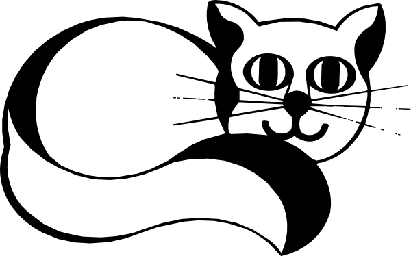Smiling Cat With Long Tail Clip Art at Clker.com.