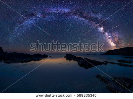 Milky Way Over Sea Long Time Stock Photo 320072831.