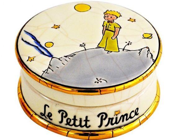 """Boîte ronde """"Petit prince"""" par les Emaux de Longwy."""