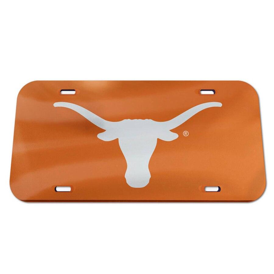 WinCraft Texas Longhorns Logo Crystal Mirror License Plate.