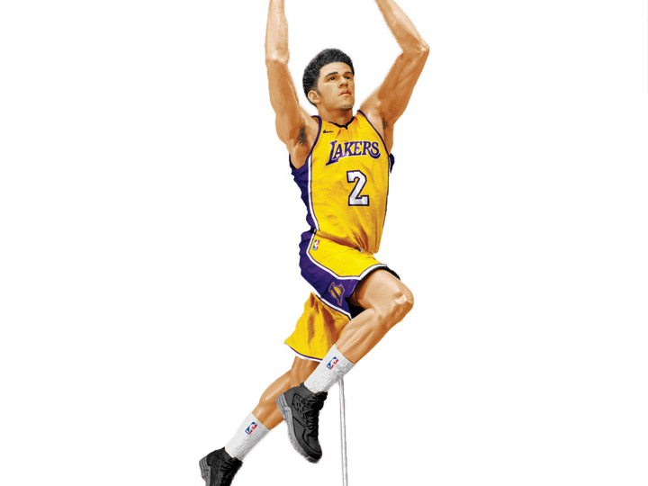 NBA Sportspicks Series 32 Lonzo Ball (Los Angeles Lakers).